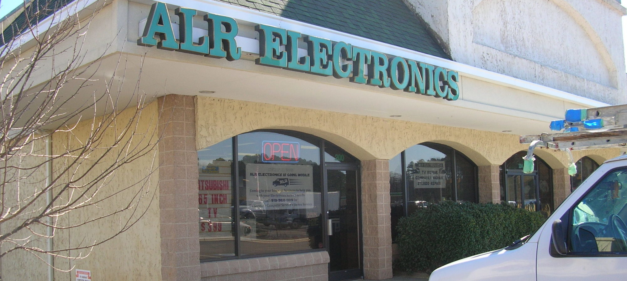 ALR Electronics * Call 919-968-1109 * Now offering FREE pick-up and delivery service to Chapel Hill, Carrboro & Pittsboro